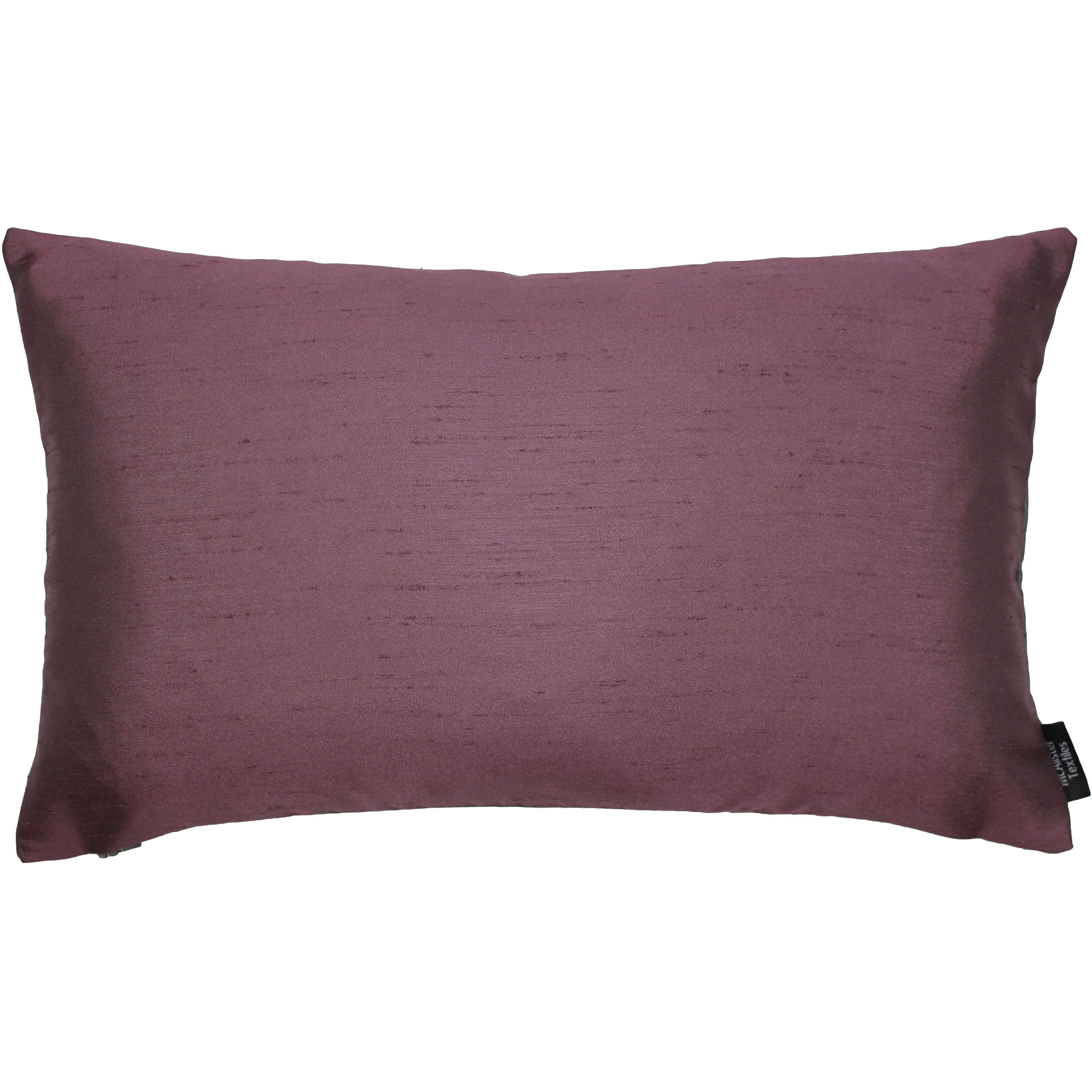 McAlister Textiles Rocco Contrast Faux Silk Purple + Grey Pillow Pillow Cover Only 50cm x 30cm