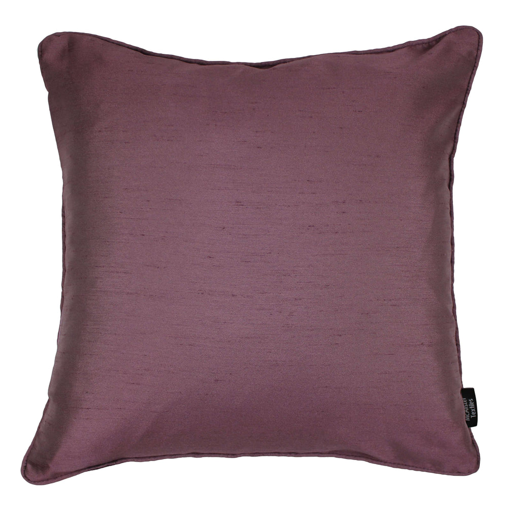 McAlister Textiles Rocco Plain Faux Silk Purple Pillow Pillow