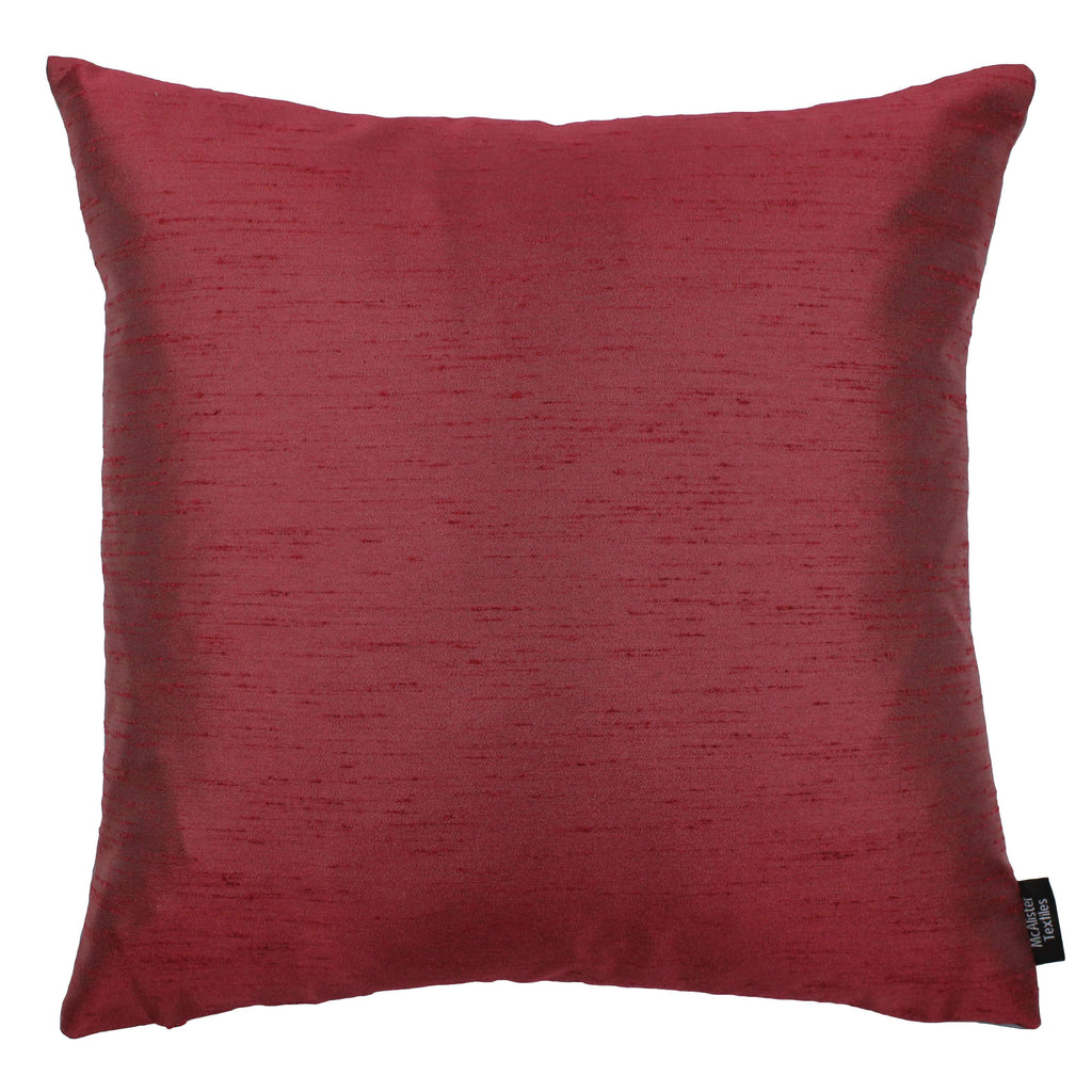 McAlister Textiles Rocco Contrast Faux Silk Red + Grey Cushion Cushions and Covers Cover Only 43cm x 43cm