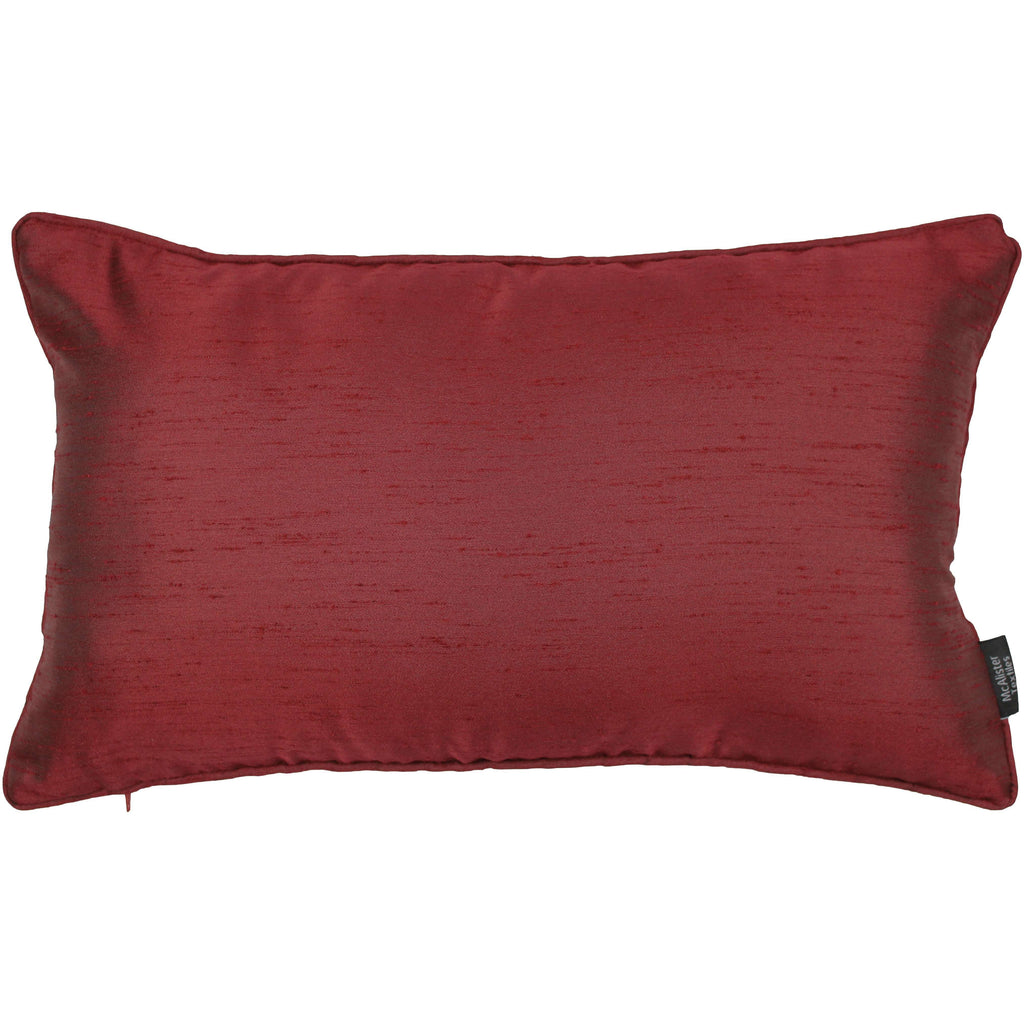 McAlister Textiles Rocco Plain Faux Silk Wine Red Pillow Pillow Cover Only 50cm x 30cm