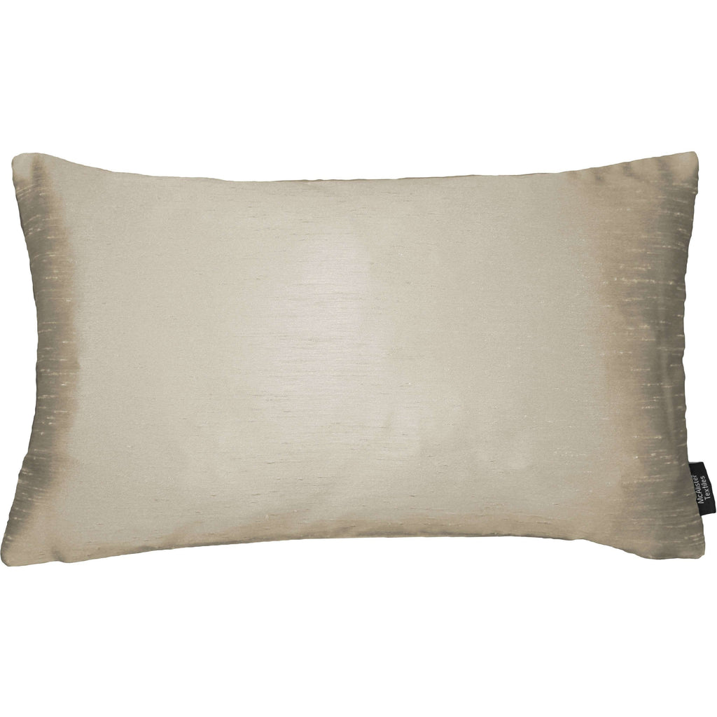 McAlister Textiles Rocco Contrast Faux Silk Natural + Bronze Cushion Cushions and Covers Cover Only 50cm x 30cm