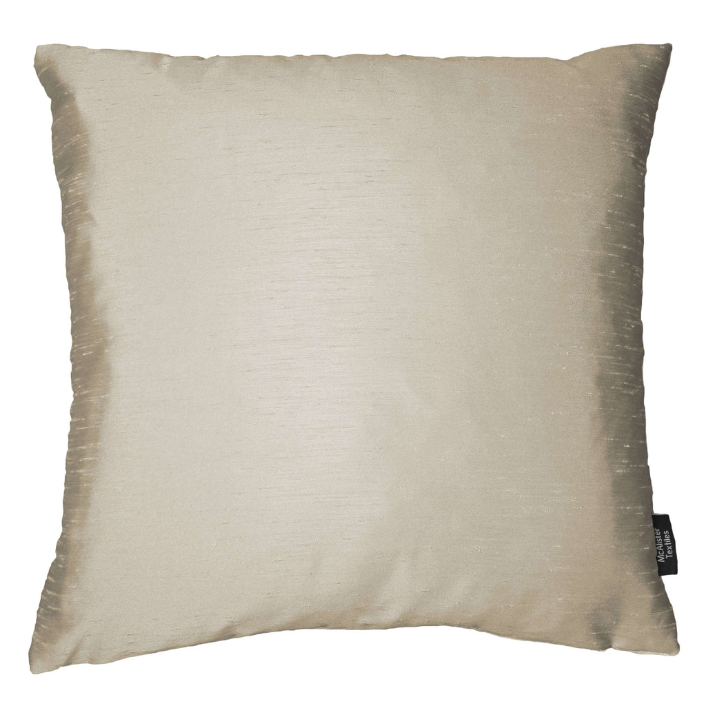 McAlister Textiles Rocco Contrast Faux Silk Natural + Bronze Cushion Cushions and Covers Cover Only 43cm x 43cm