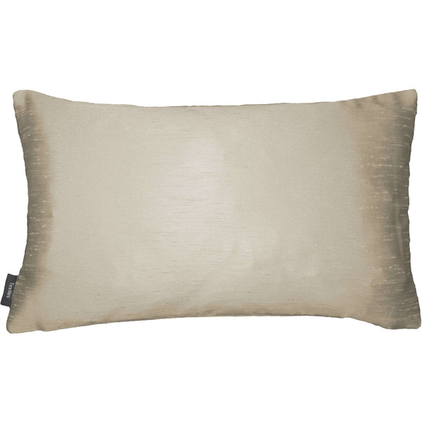 McAlister Textiles Rocco Contrast Faux Silk Natural+ Bronze Pillow Pillow Cover Only 50cm x 30cm