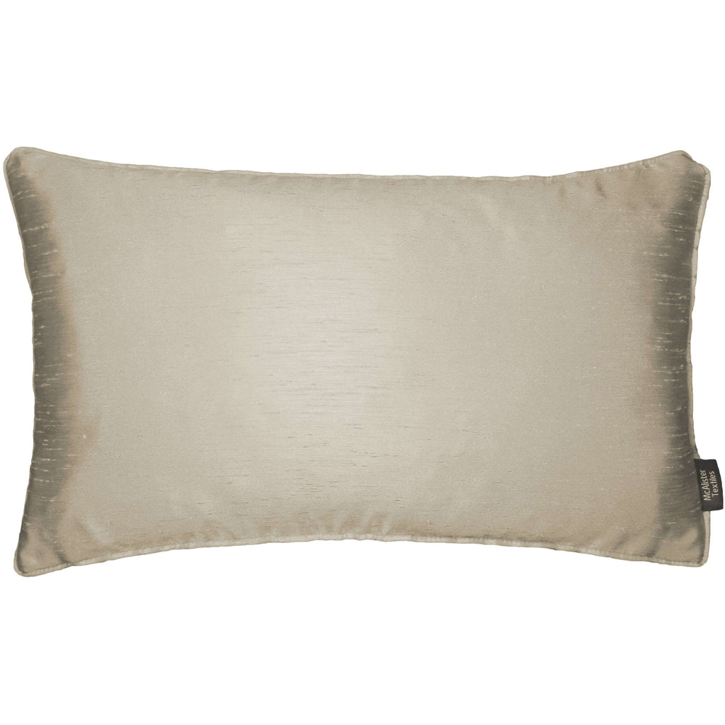 McAlister Textiles Rocco Plain Faux Silk Taupe Cushion Cushions and Covers Cover Only 50cm x 30cm