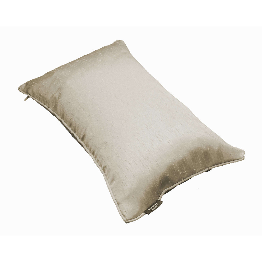 McAlister Textiles Rocco Plain Faux Silk Taupe Cushion Cushions and Covers