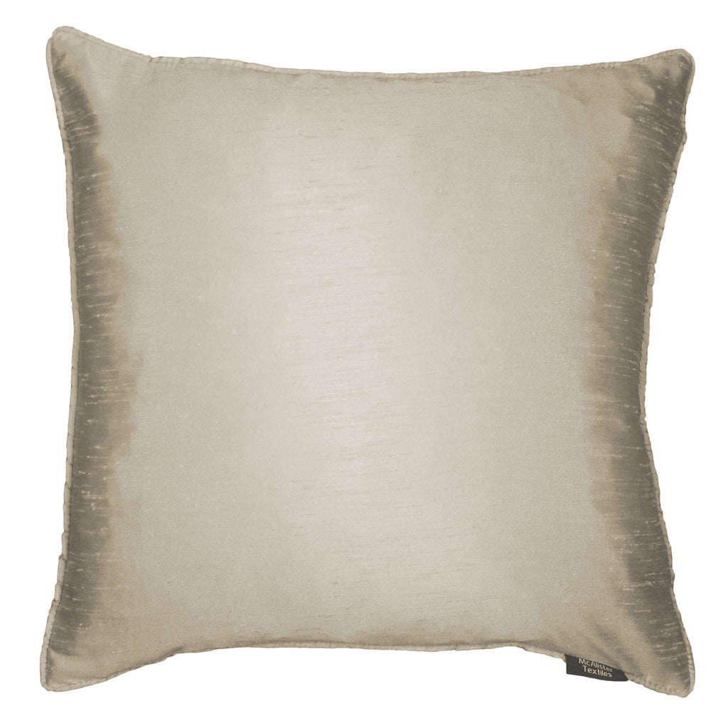 McAlister Textiles Rocco Plain Faux Silk Taupe Cushion Cushions and Covers Cover Only 43cm x 43cm