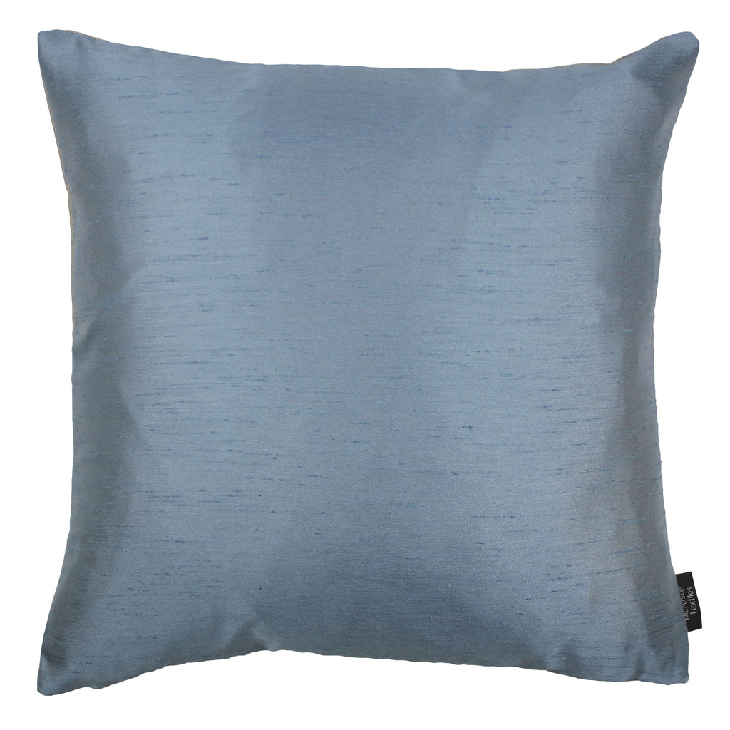 McAlister Textiles Rocco Contrast Faux Silk Pale Blue + Taupe Cushion Cushions and Covers Cover Only 43cm x 43cm