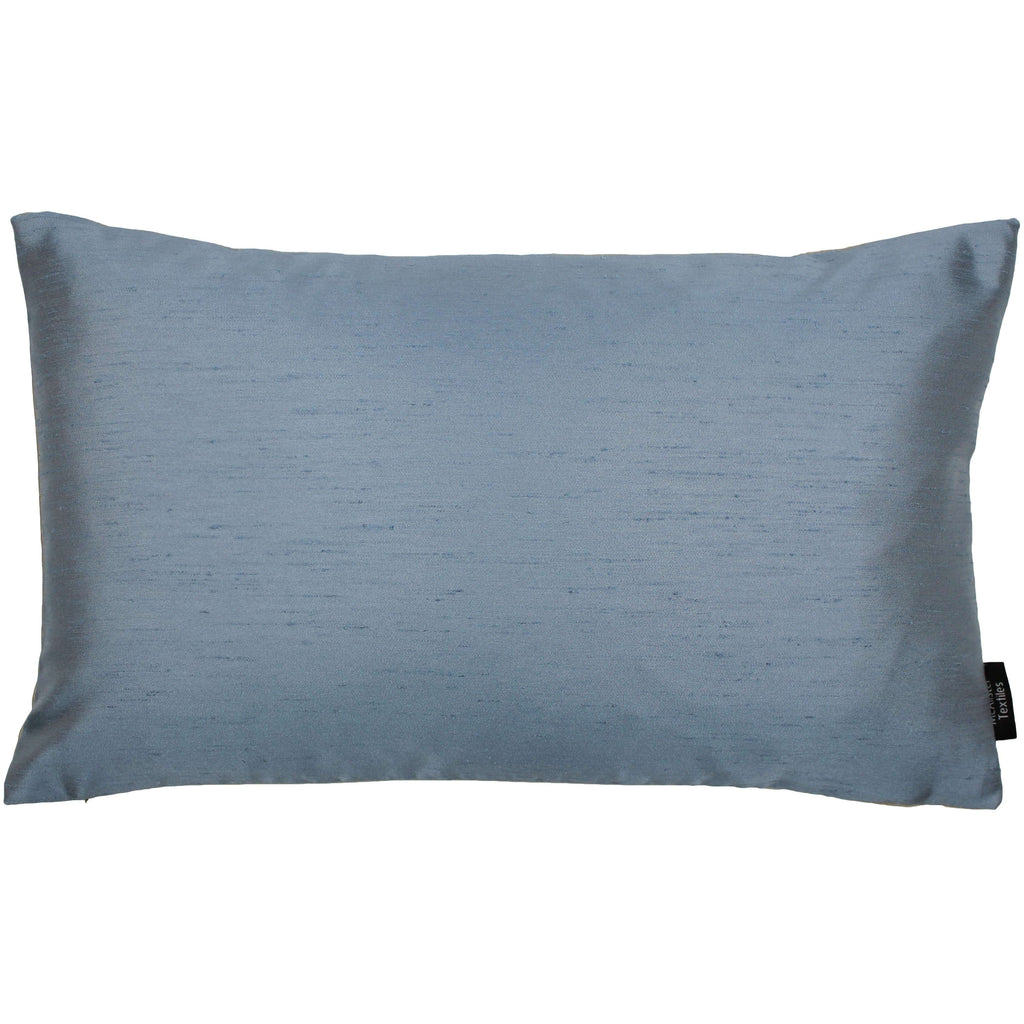 McAlister Textiles Rocco Contrast Faux Pale Silk Blue + Taupe Pillow Pillow Cover Only 50cm x 30cm