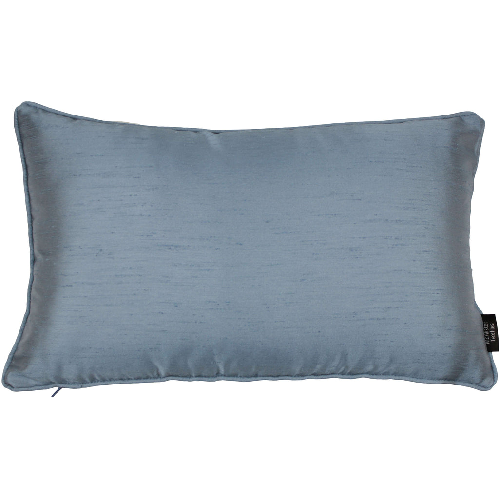 McAlister Textiles Rocco Plain Faux Silk Pale Blue Pillow Pillow Cover Only 50cm x 30cm