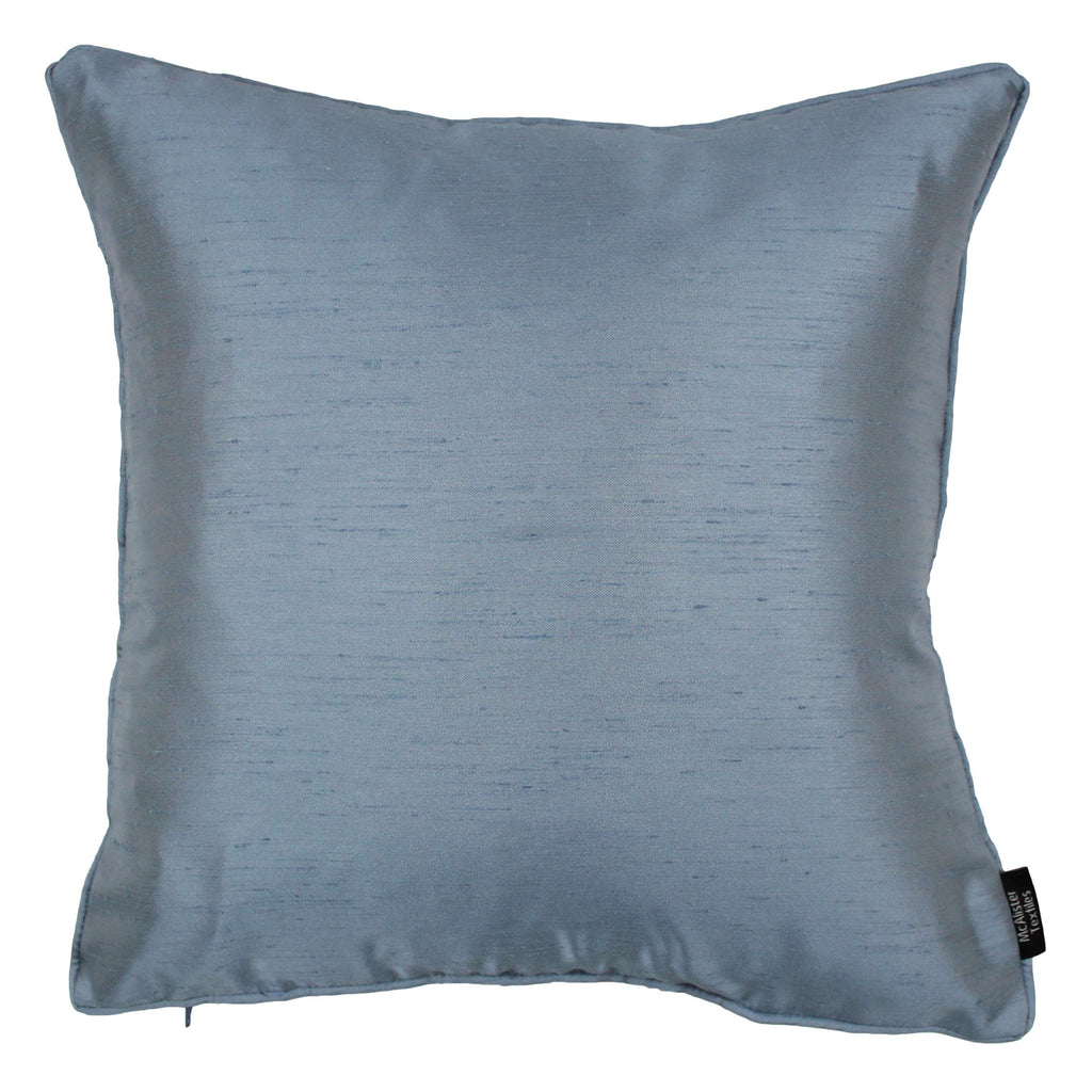 McAlister Textiles Rocco Plain Faux Silk Pale Blue Cushion Cushions and Covers Cover Only 43cm x 43cm