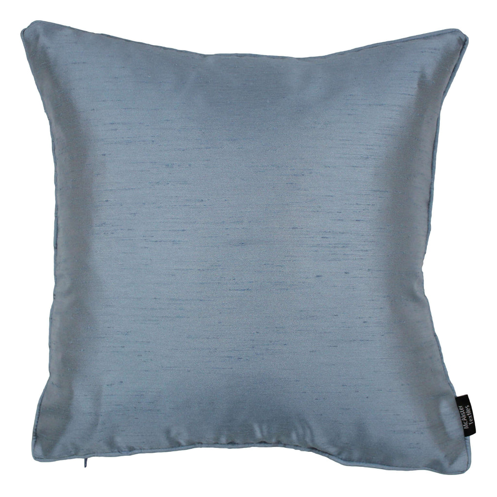 McAlister Textiles Rocco Plain Faux Silk Pale Blue Pillow Pillow Cover Only 43cm x 43cm