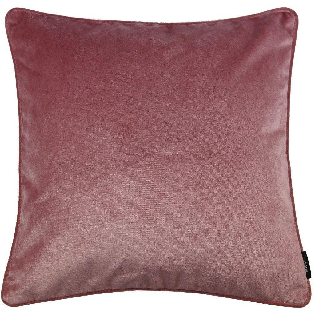 McAlister Textiles Matt Blush Pink Velvet Cushion Cushions and Covers Cover Only 43cm x 43cm