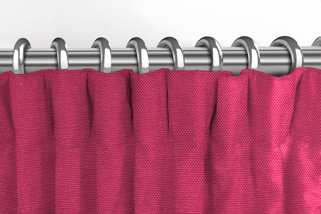McAlister Textiles Panama Plain Fuchsia Pink Curtains Tailored Curtains
