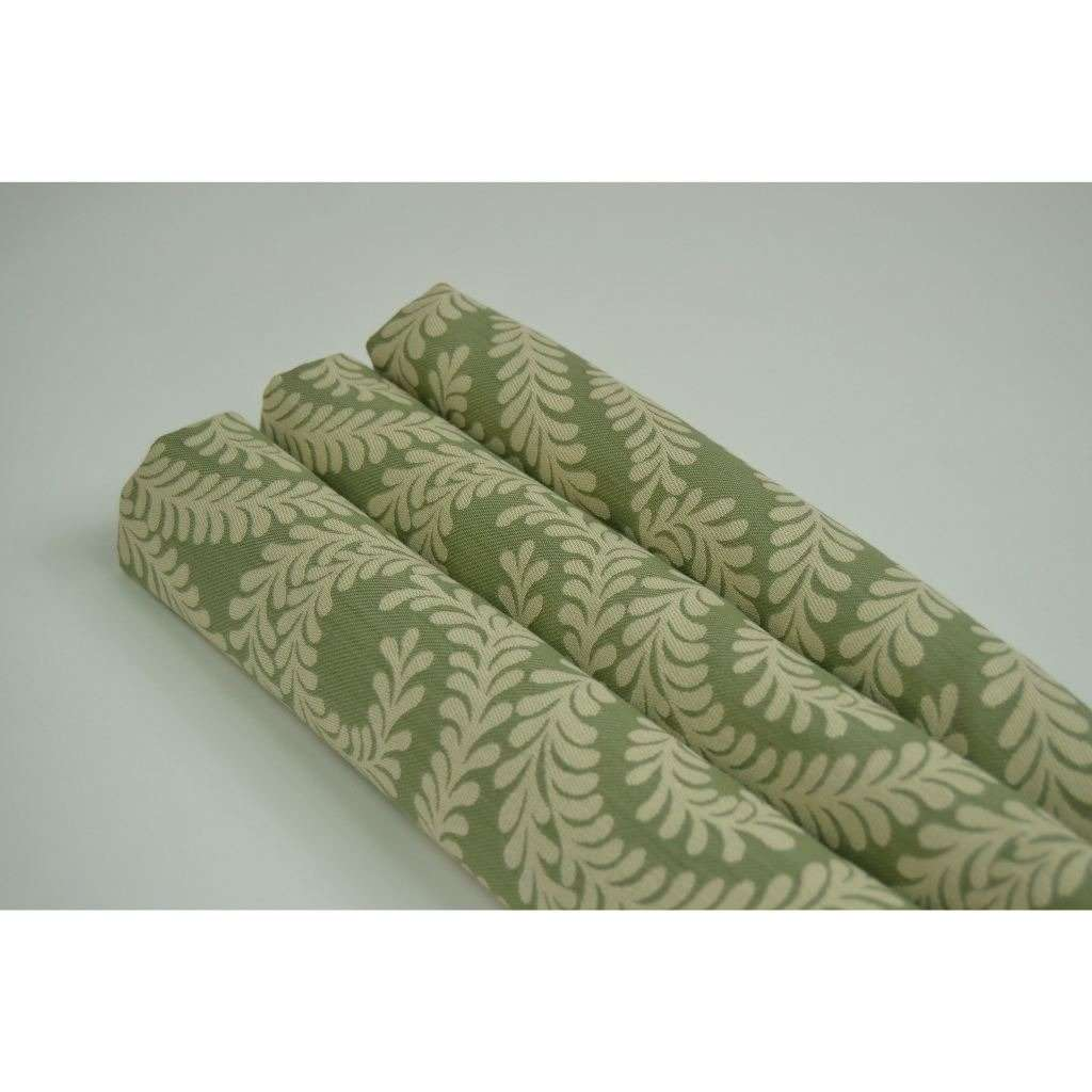McAlister Textiles Little Leaf Sage Green Fabric Fabrics