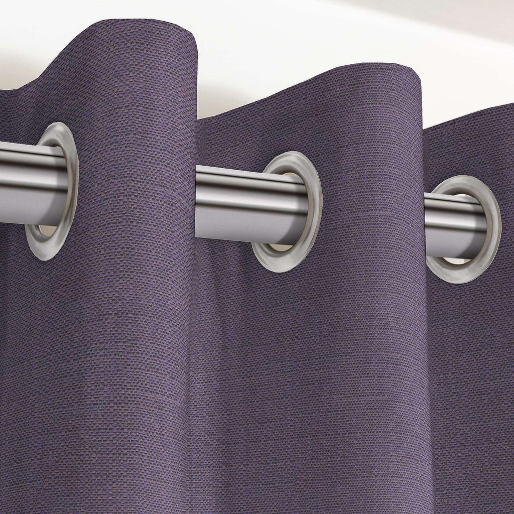 "McAlister Textiles Savannah Aubergine Purple Curtains Tailored Curtains 116cm(w) x 182cm(d) (46"" x 72"")"