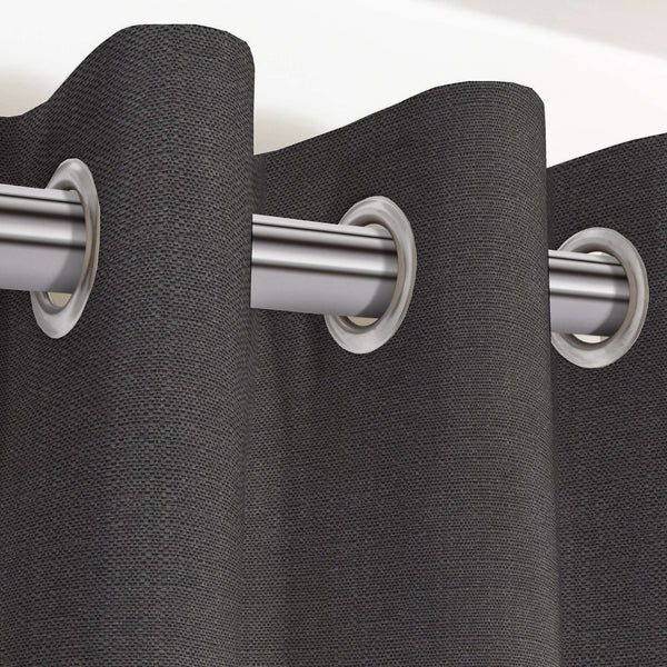 "McAlister Textiles Savannah Charcoal Grey Curtains Tailored Curtains 116cm(w) x 182cm(d) (46"" x 72"")"