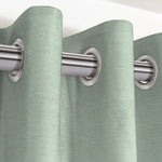 "Cargar imagen en el visor de la galería, McAlister Textiles Savannah Duck Egg Blue Curtains Tailored Curtains 116cm(w) x 182cm(d) (46"" x 72"")"