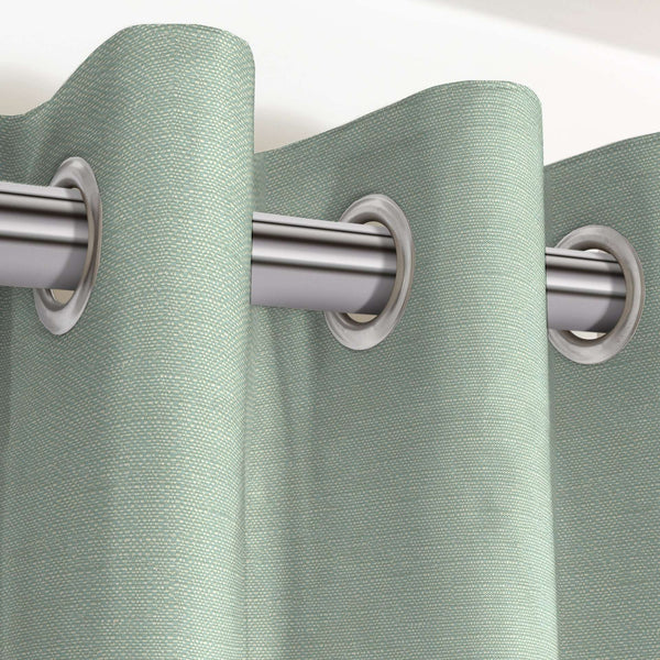 "McAlister Textiles Savannah Duck Egg Blue Curtains Tailored Curtains 116cm(w) x 182cm(d) (46"" x 72"")"
