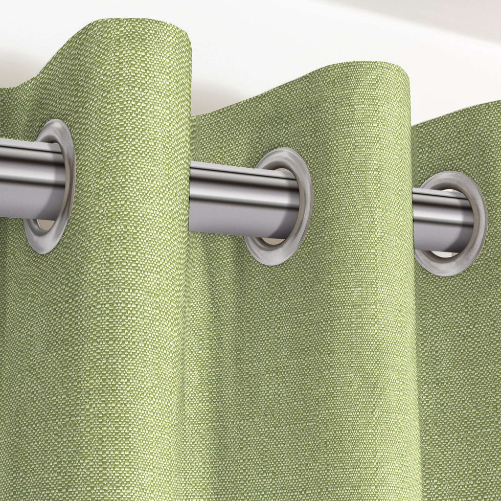 "McAlister Textiles Savannah Sage Green Curtains Tailored Curtains 116cm(w) x 182cm(d) (46"" x 72"")"
