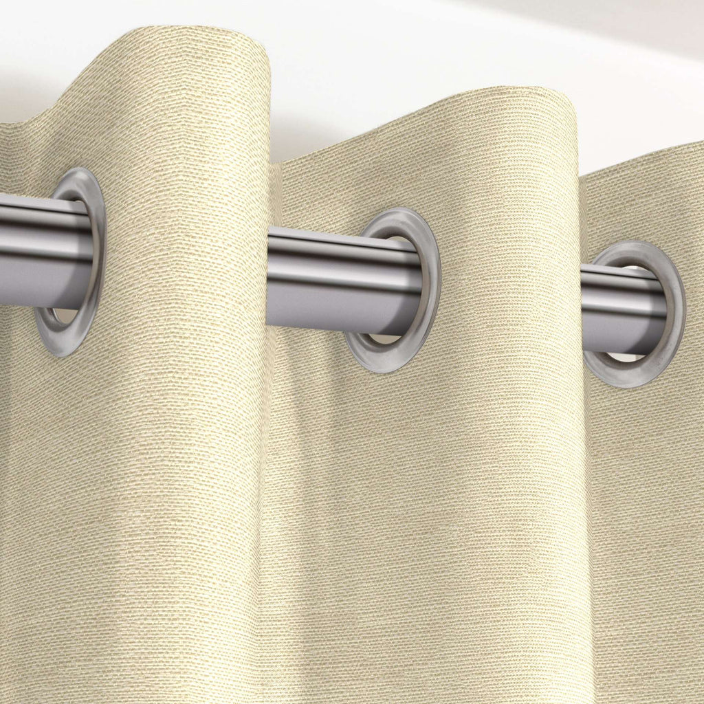 "McAlister Textiles Savannah Cream Gold Curtains Tailored Curtains 116cm(w) x 182cm(d) (46"" x 72"")"