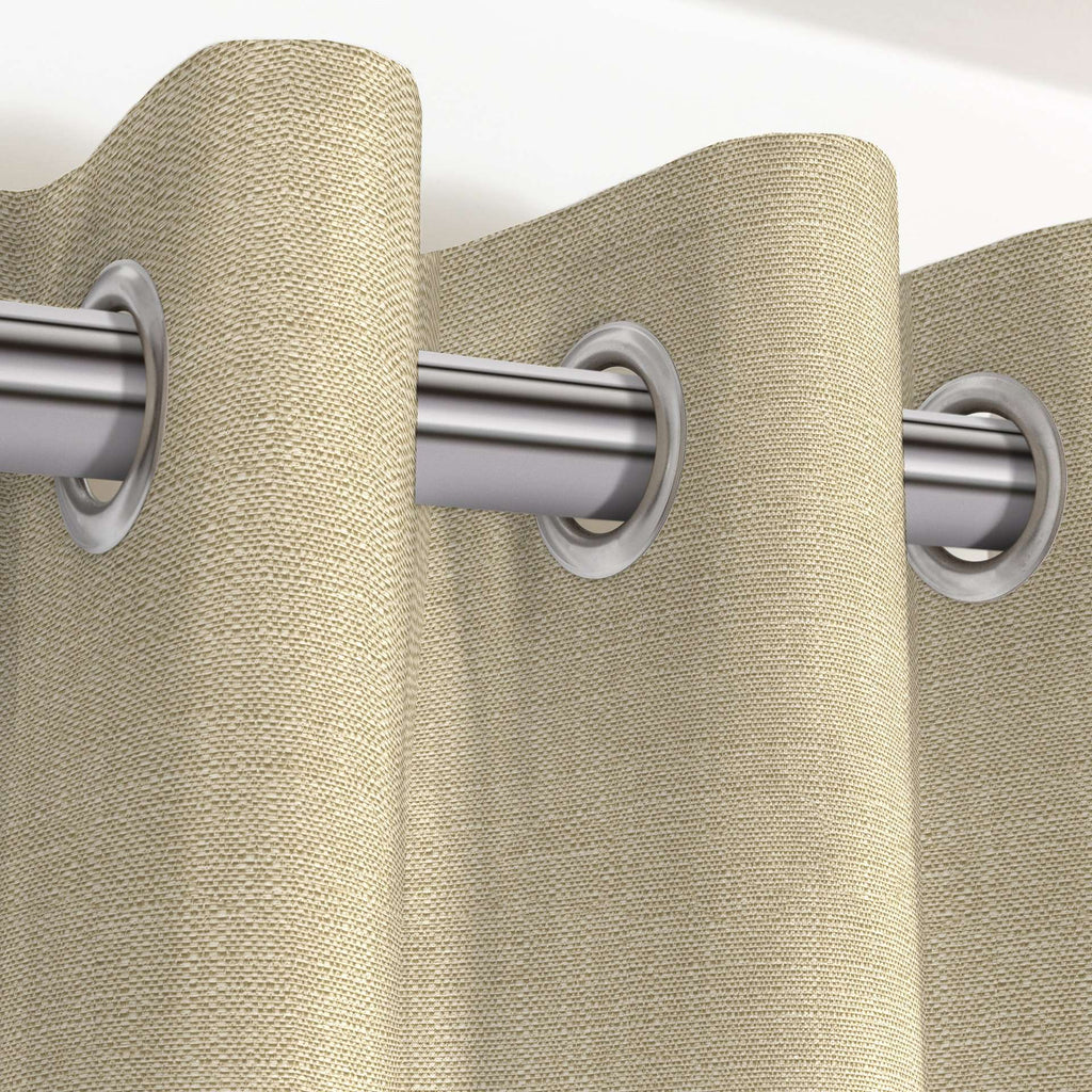 "McAlister Textiles Savannah Beige Grey Curtains Tailored Curtains 116cm(w) x 182cm(d) (46"" x 72"")"