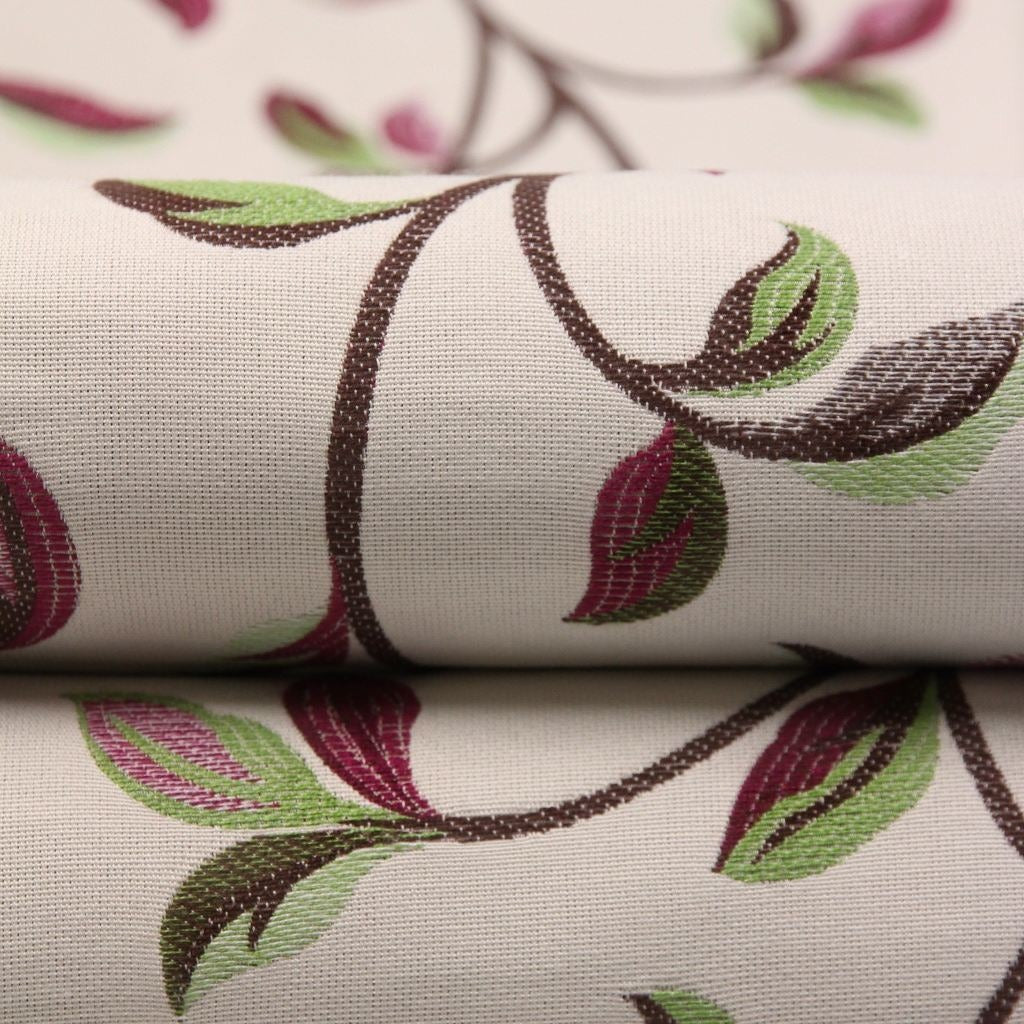 McAlister Textiles Annabel Floral Cherry Red Fabric Fabrics