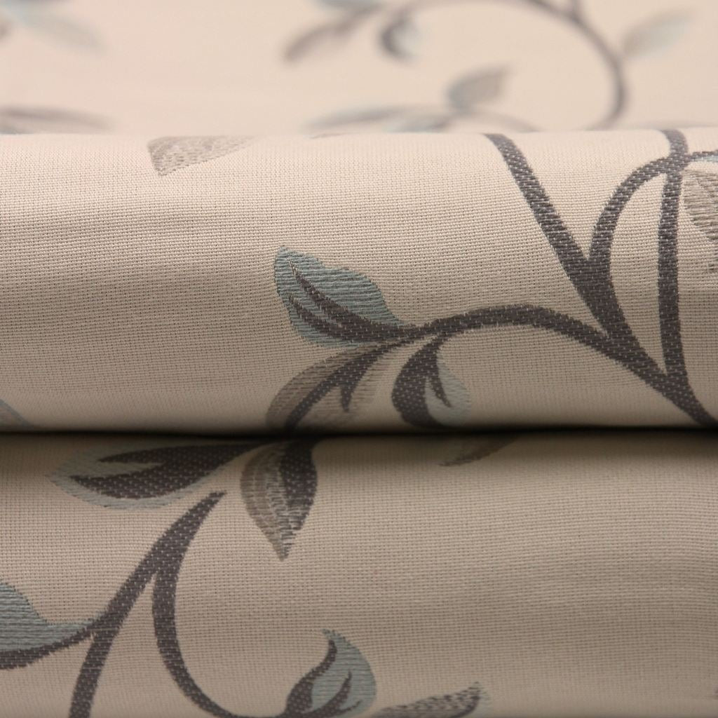 McAlister Textiles Annabel Floral Duck Egg Blue Fabric Fabrics