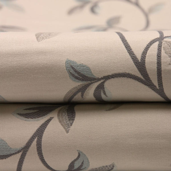 McAlister Textiles Annabel Vintage Floral Pale Duck Egg Blue Fabric-Fabrics-