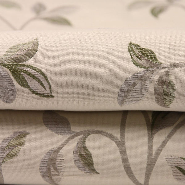 McAlister Textiles Annabel Vintage Floral Natural Green Fabric-Fabrics-
