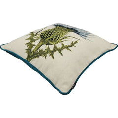 McAlister Textiles Blue Thistle Tapestry Cushion-Cushions and Covers-