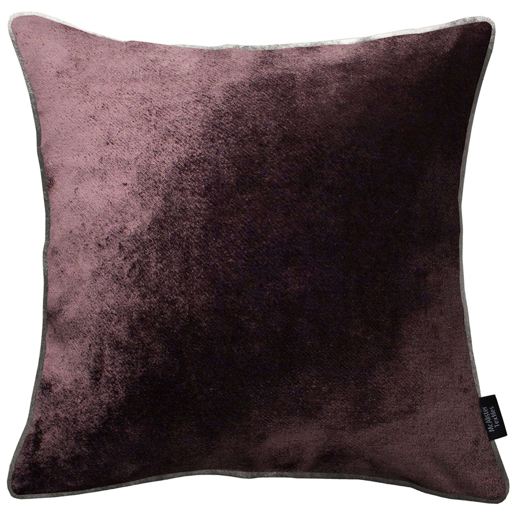 McAlister Textiles Aubergine Purple Crushed Velvet Cushions Cushions and Covers Cover Only 43cm x 43cm