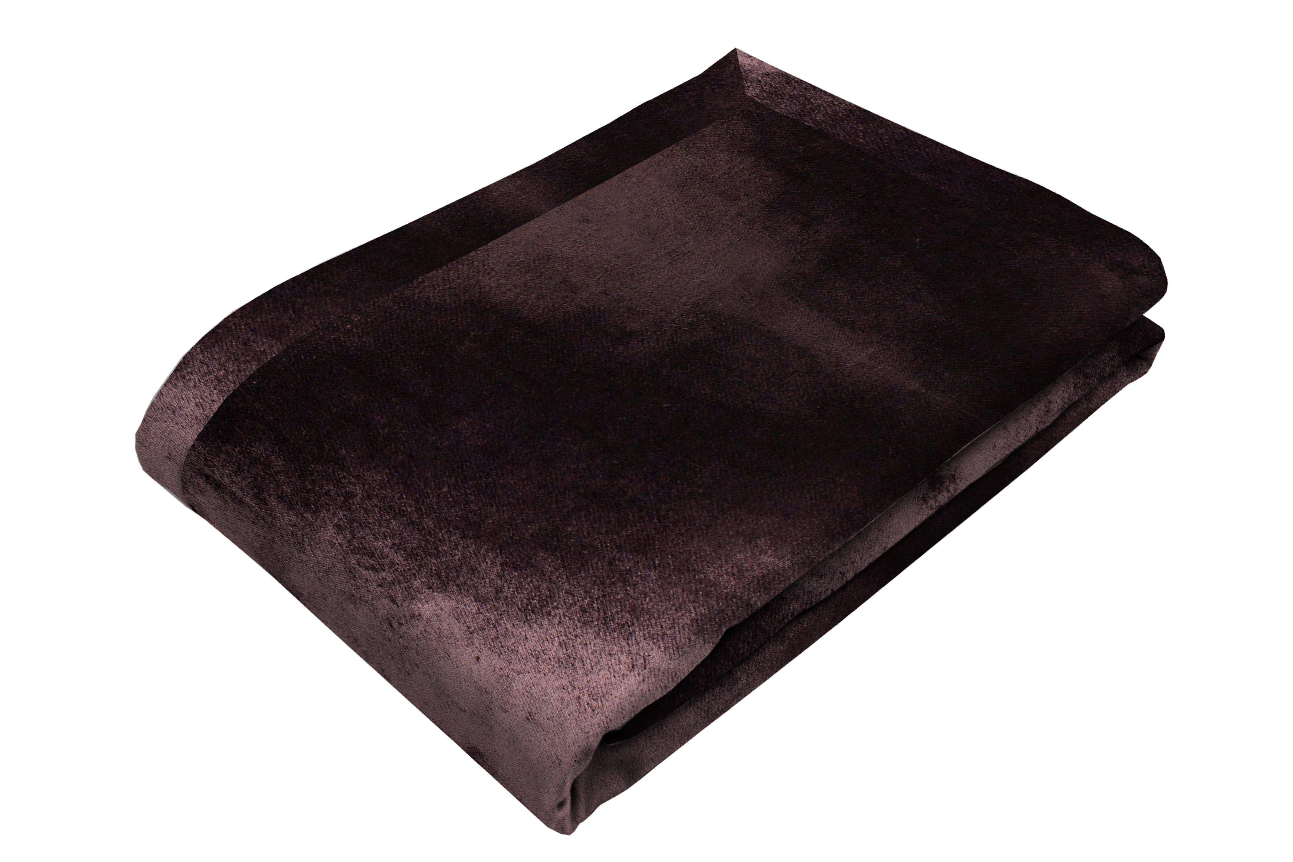 McAlister Textiles Aubergine Purple Crushed Velvet Table Runner Throws and Runners Table Runner (30cm x 200cm)