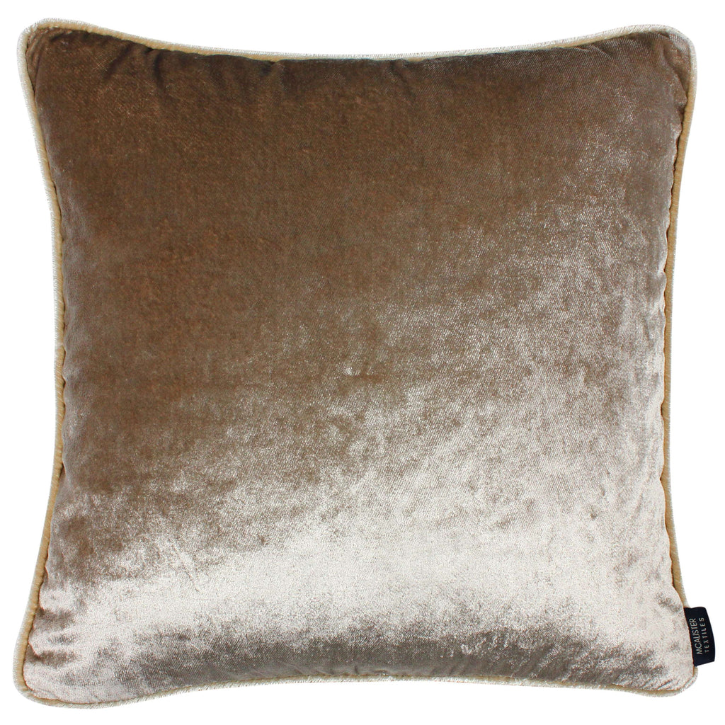 McAlister Textiles Shiny Beige Mink Crushed Velvet Cushions Cushions and Covers Cover Only 43cm x 43cm