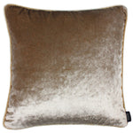 Load image into Gallery viewer, McAlister Textiles Beige Mink Crushed Velvet Cushions Cushions and Covers Cover Only 43cm x 43cm