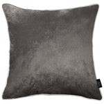 Load image into Gallery viewer, McAlister Textiles Charcoal Grey Crushed Velvet Cushions Cushions and Covers Cover Only 43cm x 43cm
