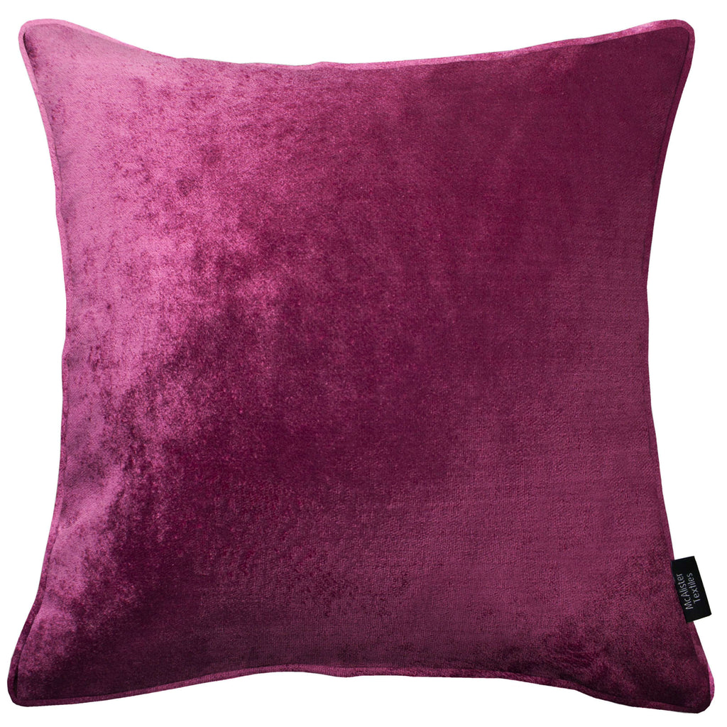 McAlister Textiles Fuchsia Pink Crushed Velvet Cushions Cushions and Covers Cover Only 43cm x 43cm