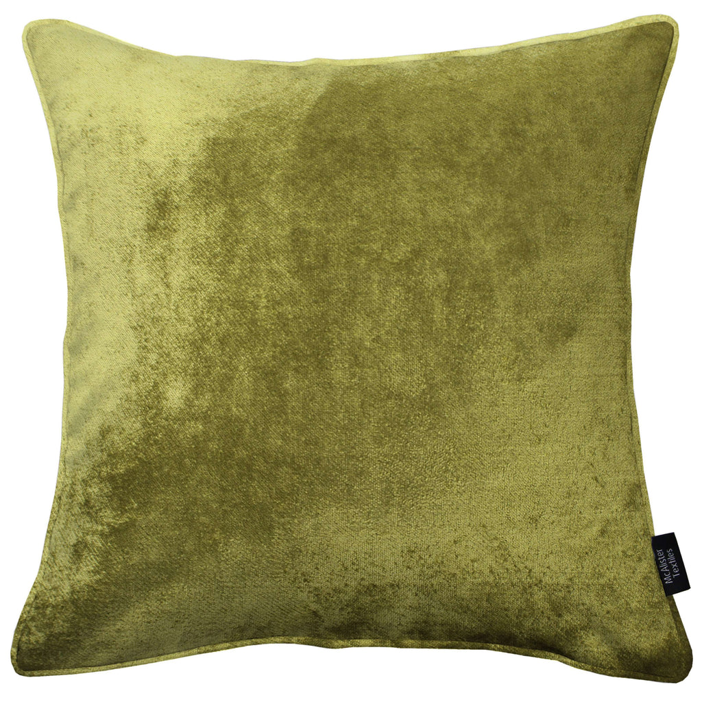 McAlister Textiles Lime Green Crushed Velvet Cushions Cushions and Covers Cover Only 43cm x 43cm