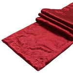 Load image into Gallery viewer, McAlister Textiles Wine Red Crushed Velvet Table Runner Throws and Runners
