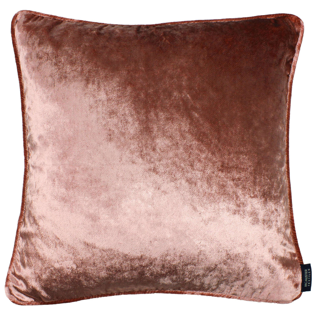 McAlister Textiles Rose Pink Crushed Velvet Cushions Cushions and Covers Cover Only 43cm x 43cm
