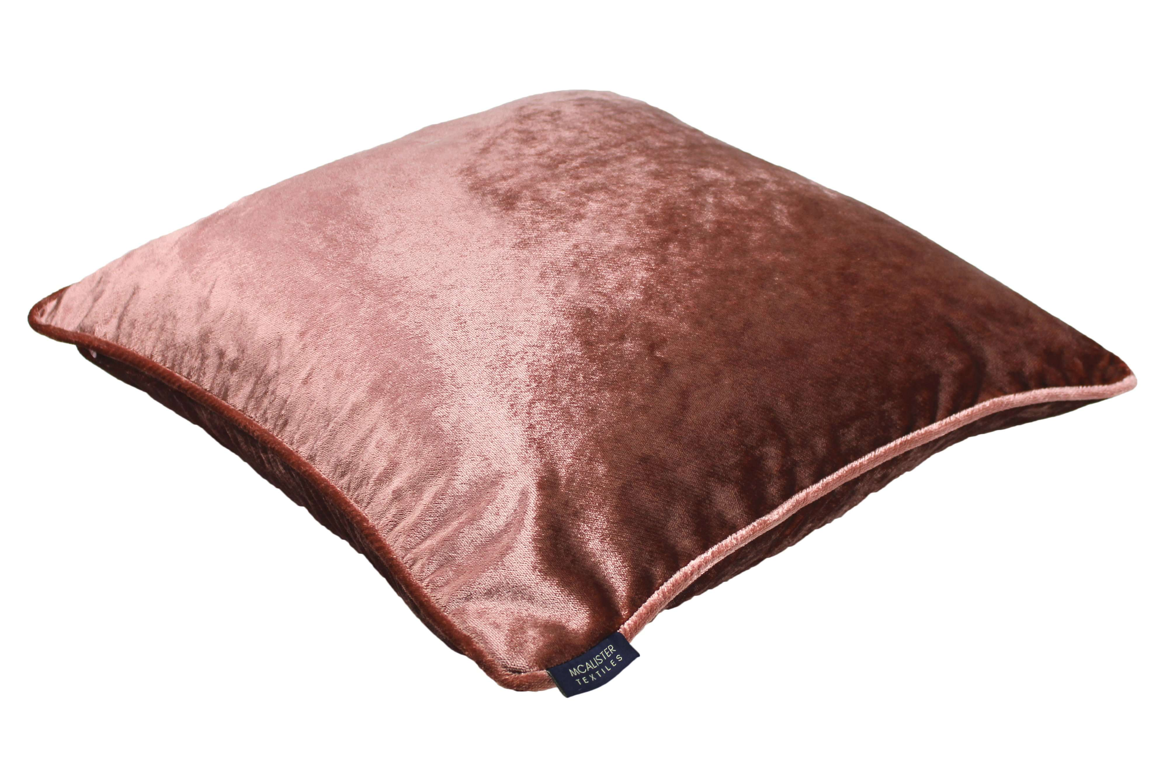 McAlister Textiles Rose Pink Crushed Velvet Cushions Cushions and Covers