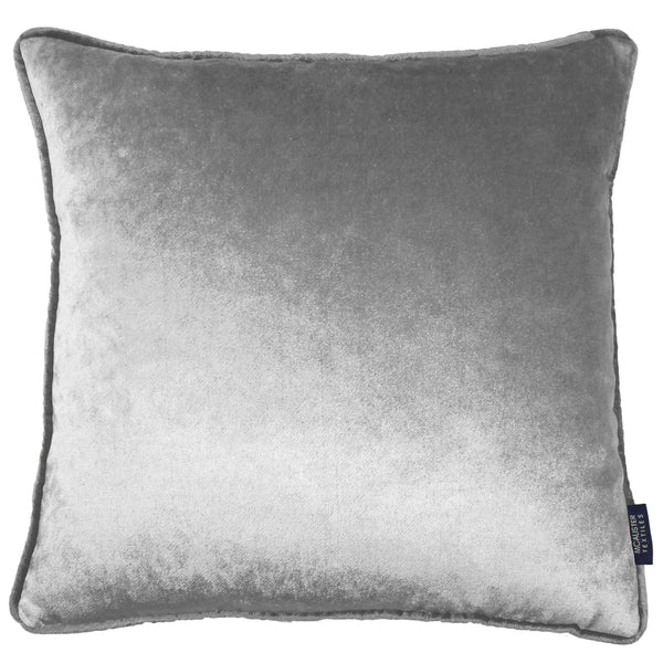 McAlister Textiles Silver Crushed Velvet Cushions Cushions and Covers Cover Only 43cm x 43cm