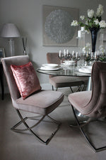 Load image into Gallery viewer, McAlister Textiles Rose Pink Crushed Velvet Cushions Cushions and Covers