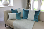 Carica l'immagine nel visualizzatore di Gallery, McAlister Textiles Skye Velvet Border Tweed Pillow - Teal Pillow