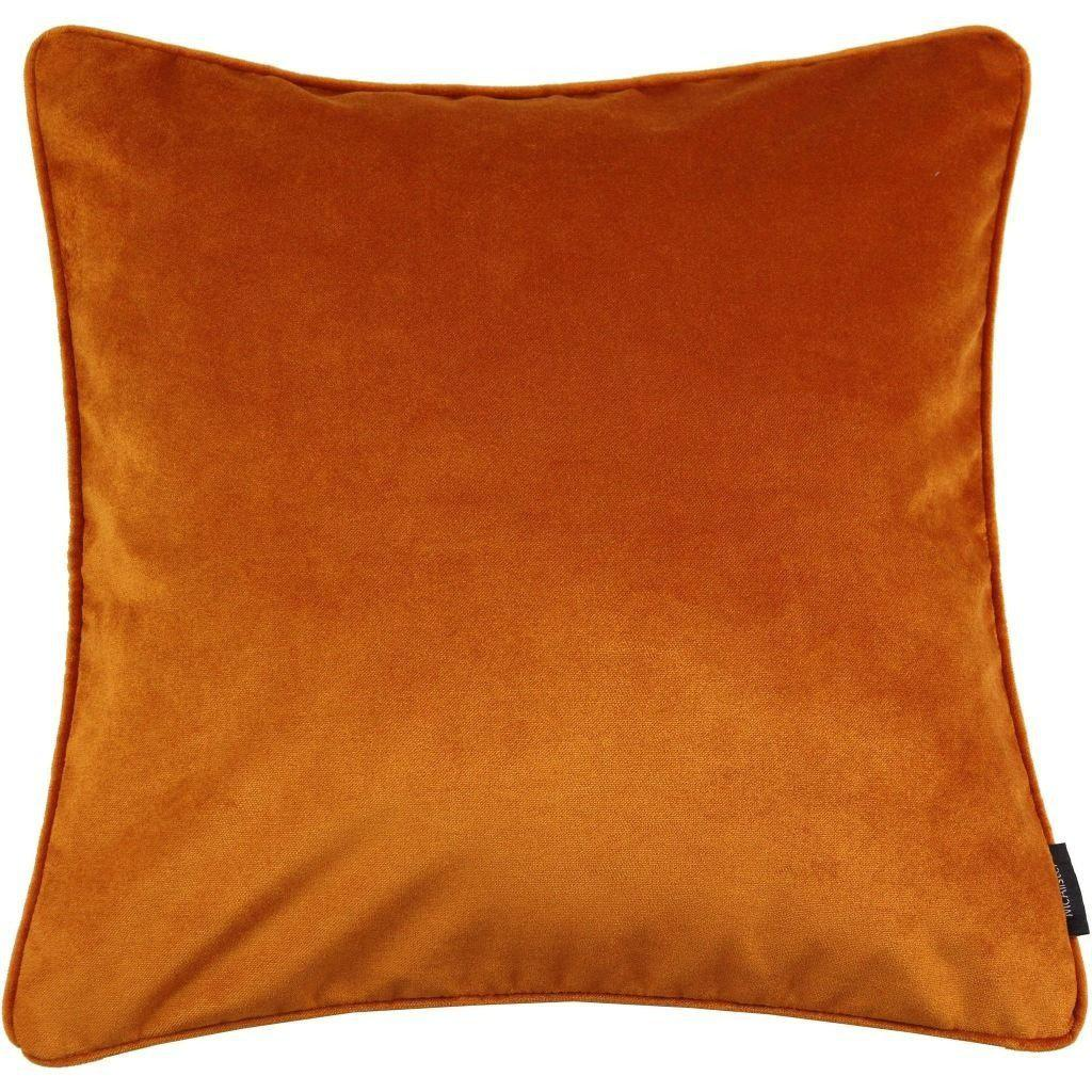 McAlister Textiles Matt Burnt Orange Velvet Cushion Cushions and Covers Cover Only 43cm x 43cm