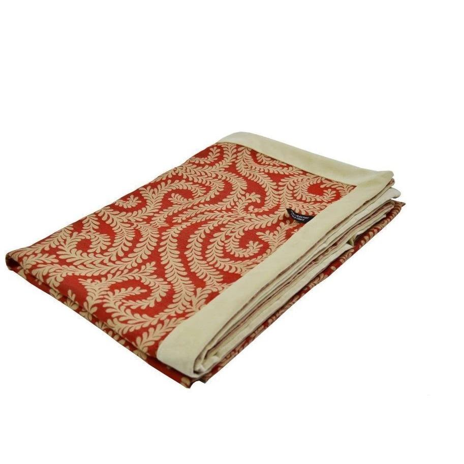McAlister Textiles Little Leaf Burnt Orange Throw Throws and Runners Regular (130cm x 200cm)