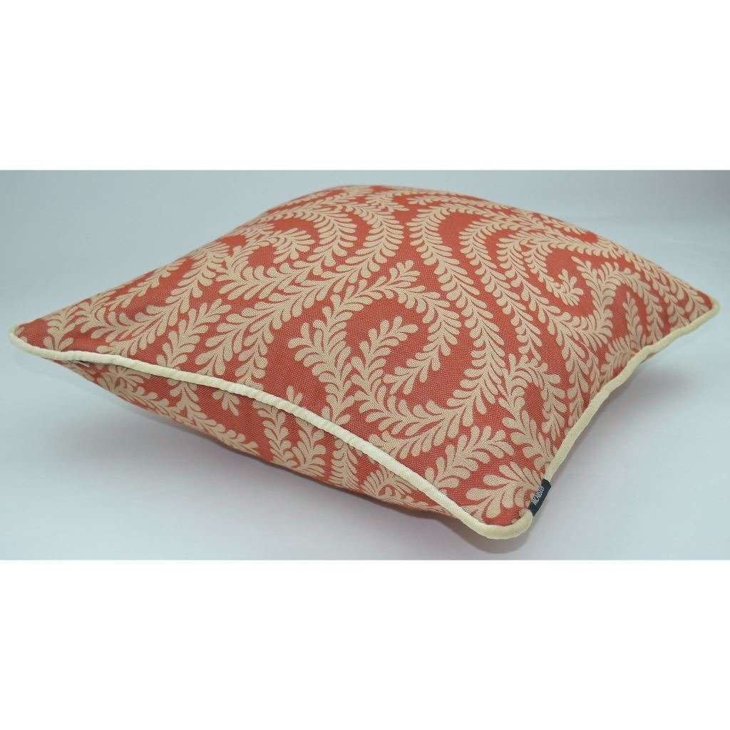 McAlister Textiles Little Leaf Burnt Orange Cushion Cushions and Covers