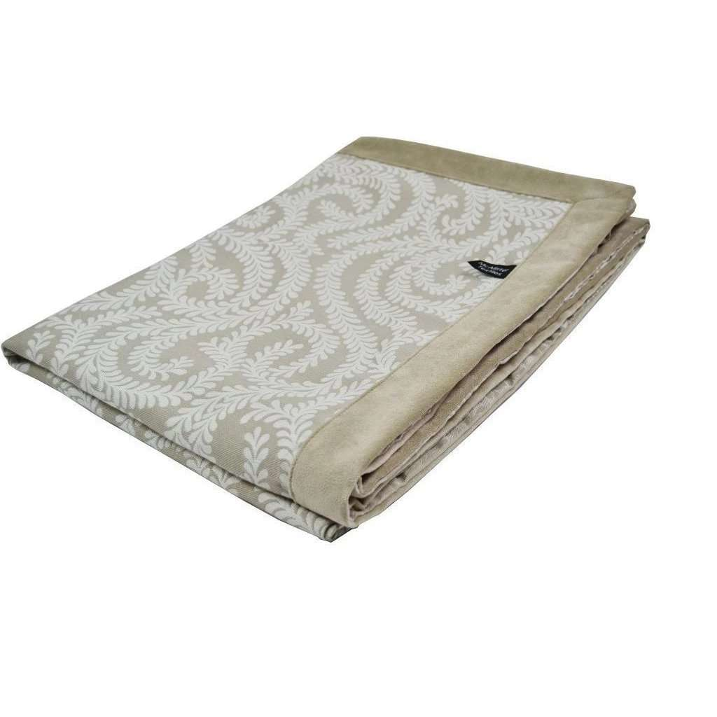 McAlister Textiles Little Leaf Pale Beige Throws & Runners Throws and Runners Regular (130cm x 200cm)