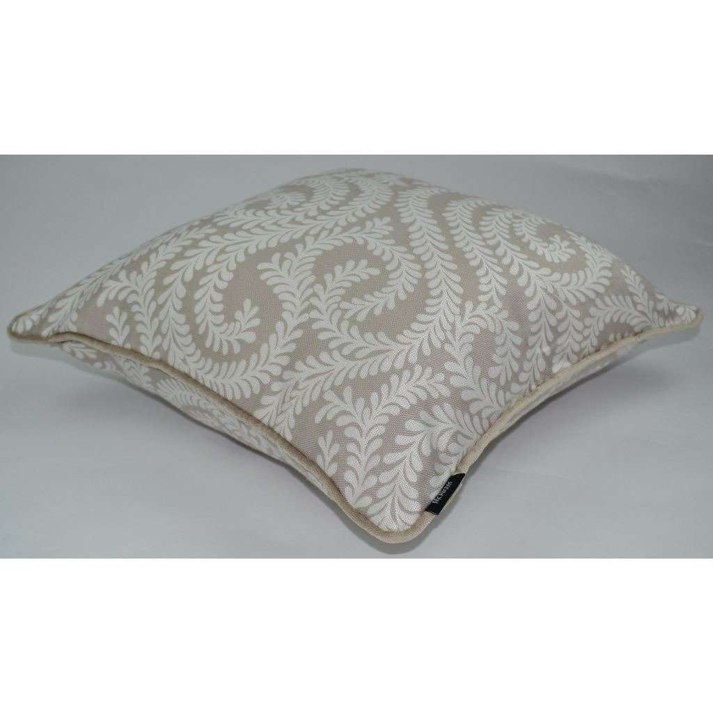McAlister Textiles Little Leaf Pale Beige Cushion Cushions and Covers