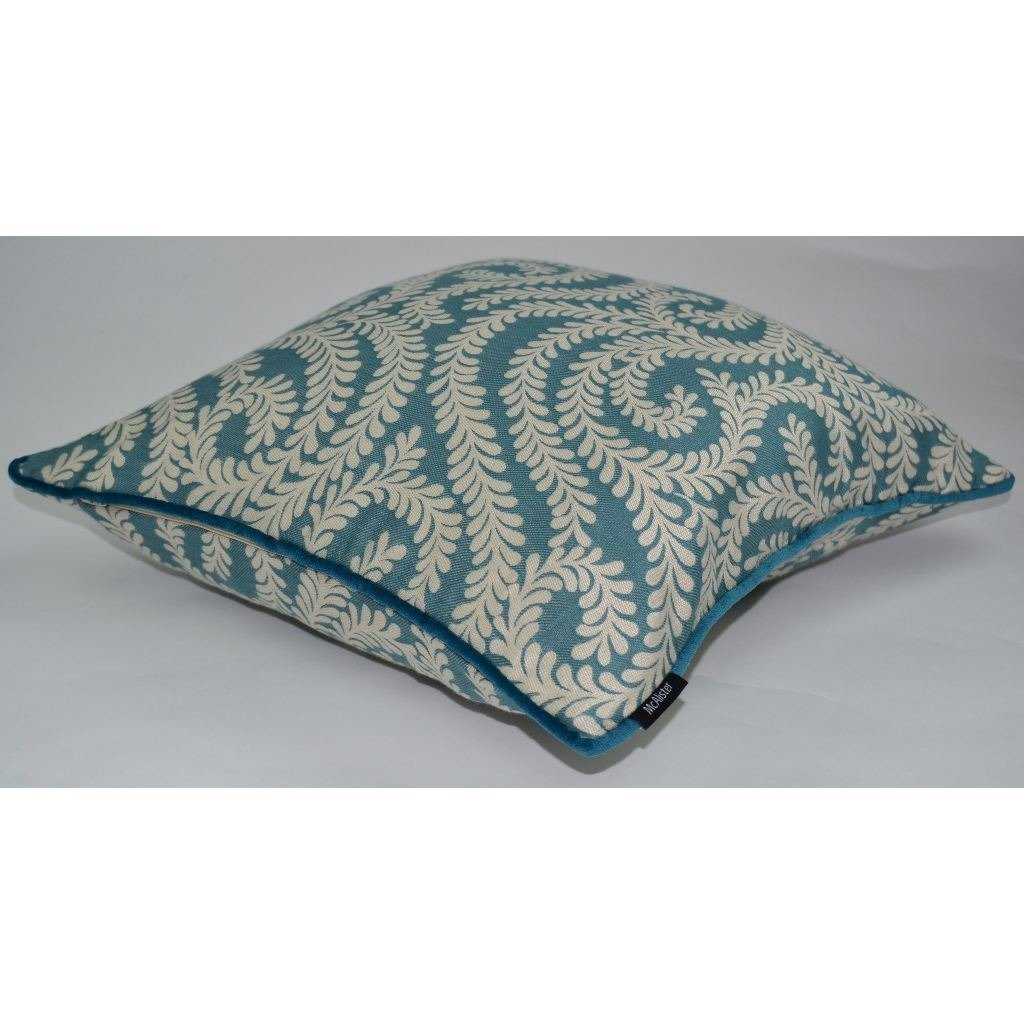 McAlister Textiles Little Leaf Teal Pillow Pillow