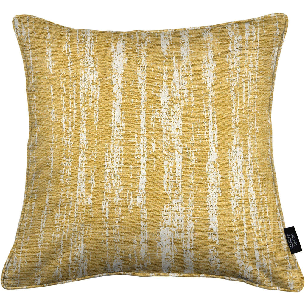 McAlister Textiles Textured Chenille Mustard Yellow Cushion Cushions and Covers Polyester Filler 49cm x 49cm